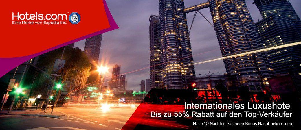Hotels.com Top Gutscheine und angebote